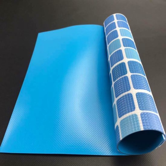 Waterproof Outdoor Blue Color PVC Tarpaulin for Swimming Pool Cover