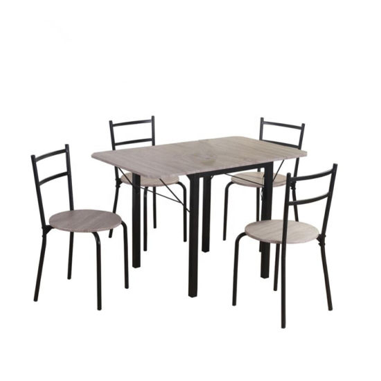 Silver Dining Table And Chairs, China For Small Space 5 Piece Drop Leaf Extendable Wood Dining Table With Chairs China Extendable Wood Dining Table Dining Room Furniture Sets