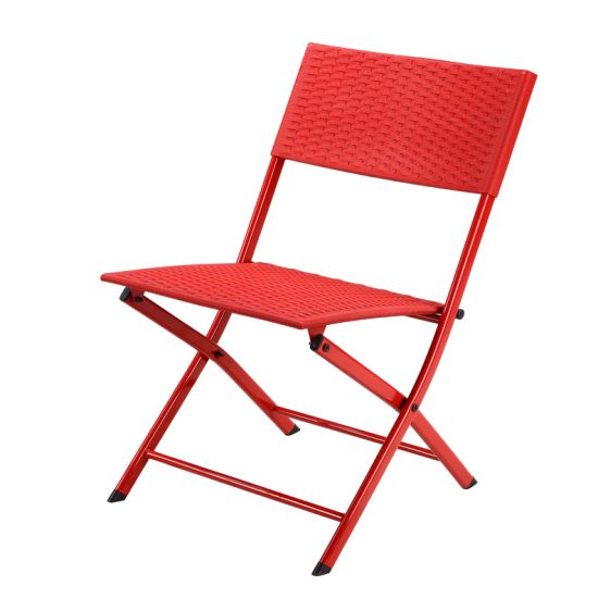 Competitive Price Outdoor Plastic Folding Chairs with Metal Legs