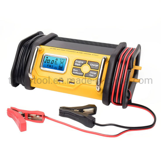 New Portable 50A Engine Start Battery Charger with LCD Display and  20A Charging