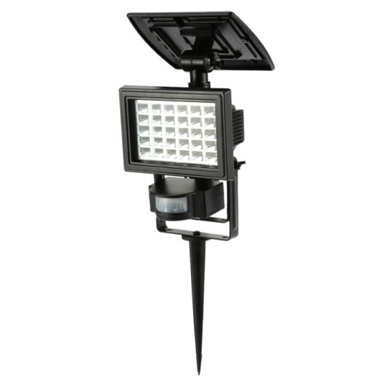 Outdoor LED Motion Security Flood Light White Battery Operated Landscape Garden