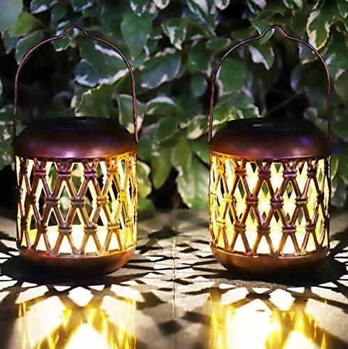 Outdoor Hanging Garden Decorative Tabletop Solar Lantern Lights for Patio Landscape Backyard