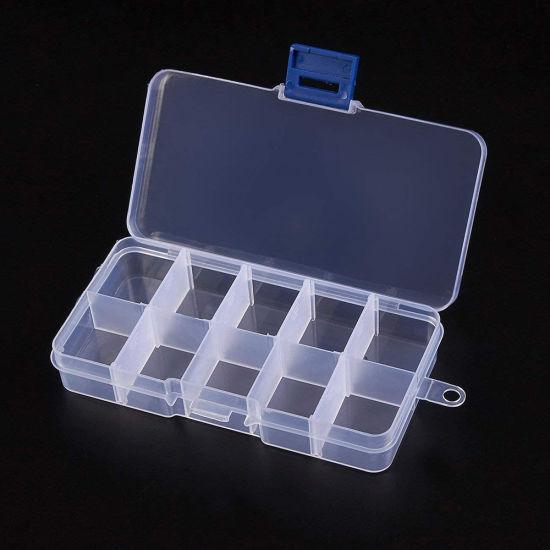 21865 10 Removable Compartments Bead Storage Box Jewelry Kit Storage Box