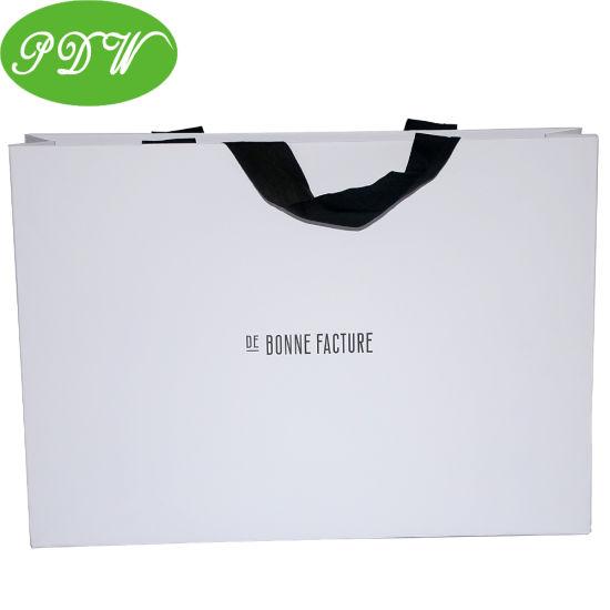 Custom Printing Luxury Packaging Machine Biodegradable Handle Shopping Paper Gift Bags