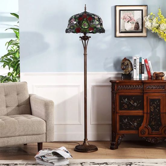 Tiffany Style Floor Lamp Stained Gl