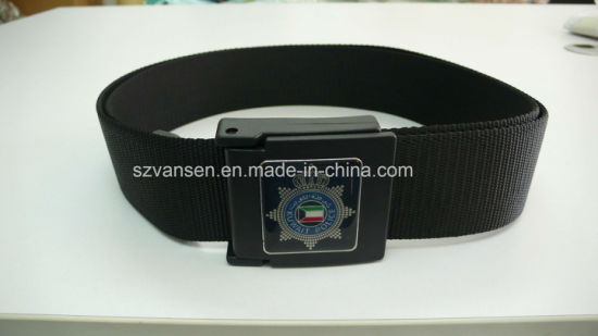 Military Male Belt with Steel Buckle pictures & photos