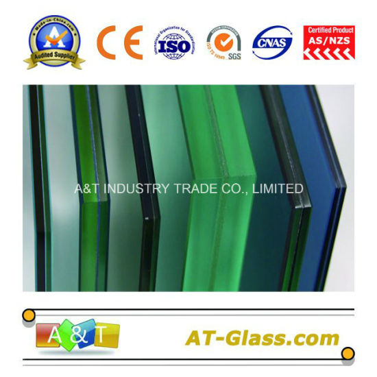 6.38mm 10.38mm Laminated Safety Glass/Tinted PVB Laminated Glass