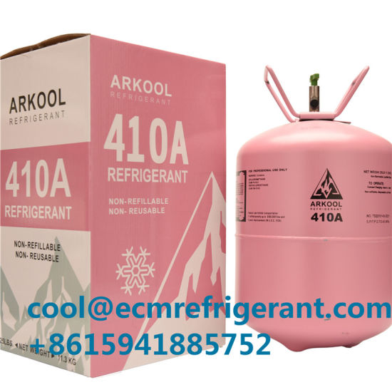 China 99 9% Purity R410A Refrigerant Gas Replace R22