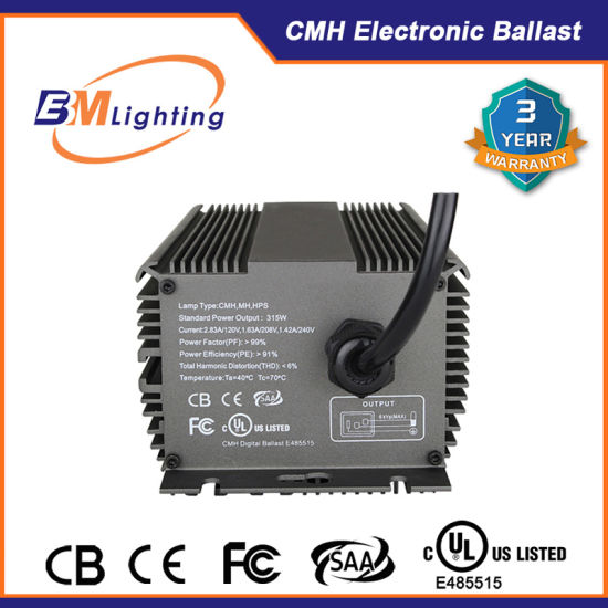 315W Dimmable Ceramic Metal Halide Light Ballast with UL Certification pictures & photos