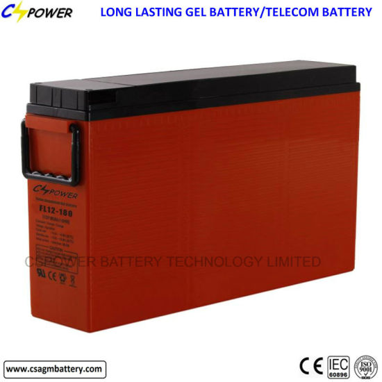 Supplier Front Terminal Gel Battery for Telecom FL12-100ah pictures & photos