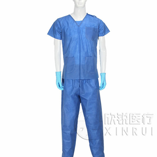 Disposable SMS Gown Surgical Scrub Suit