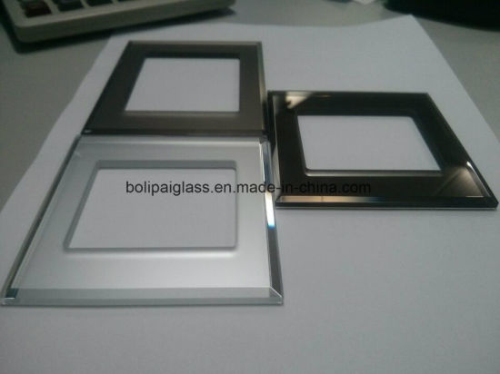 3&4mm Bevelled Edges Bornze Mirror Frosted Glass Switch Panel pictures & photos