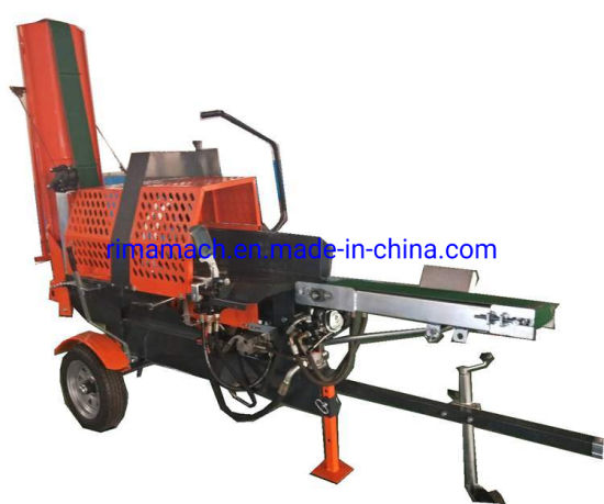20ton Ce Gasoline Firewood Processor Hydraulic Quick Forest Engine Log Splitter