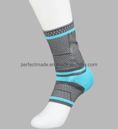 Fashion Blue Green High Elastic Nylon Breathable Sports Ankle Support