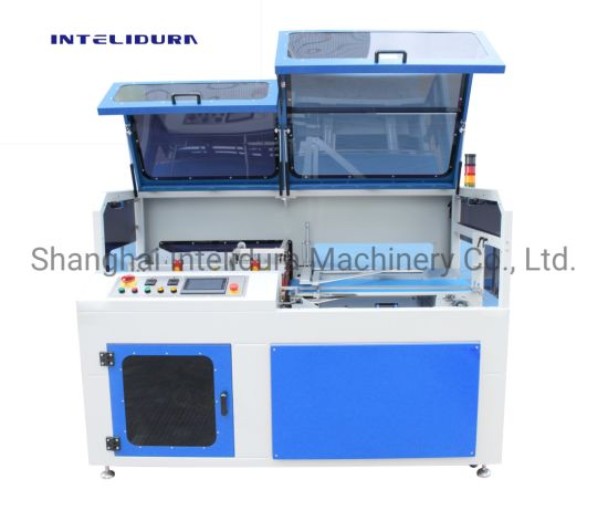 High Speed Box / Shrimp / Fruit Tray / Book / Bottle Side Continuous POF/PE Sealing Heat Shrinking Packing Machine