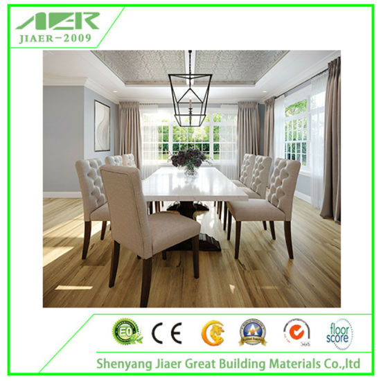 Wooden Design Waterproof Spc Click PVC Luxury Vinyl Flooring Plank Tile