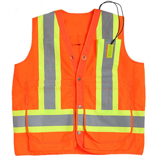 Mesh Fabric Reflective Safety Vest Waterproof Working Suit