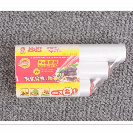 Clear Freshness Protection Package Food Plastic Bag On Roll