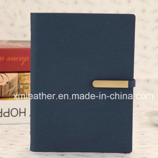 New Custom Leather Ring Binder Diary Journal with Card Holder