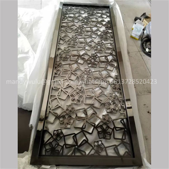 New Design Follow Pattern Stainless Steel Laser Cut Decorative Partition