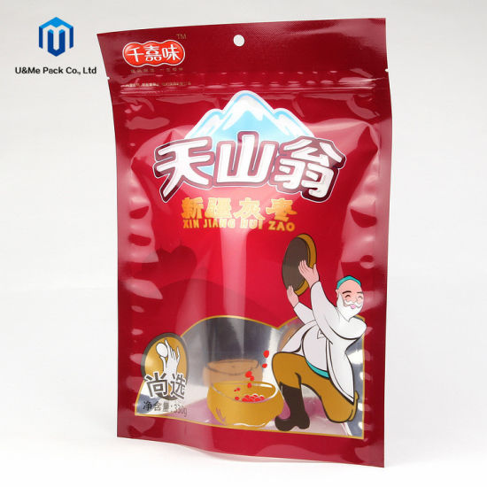 Alumnium Foil Yingyang Stand up Zip Lock Pouch Food Packaging for Dry Plum Snack