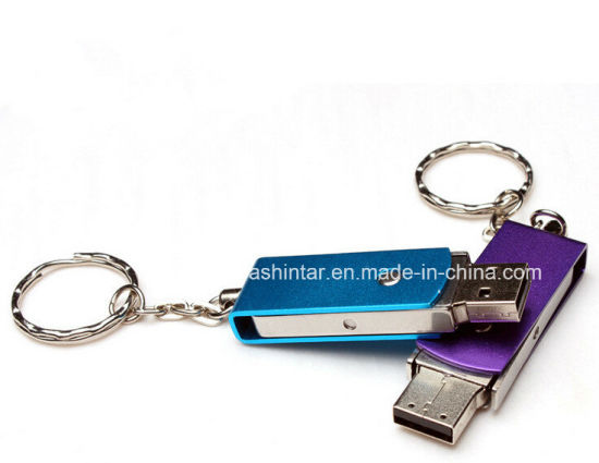 Customed USB Memory Disk Thumbdrive Swivel USB Flash Drive Metal USB Stick pictures & photos