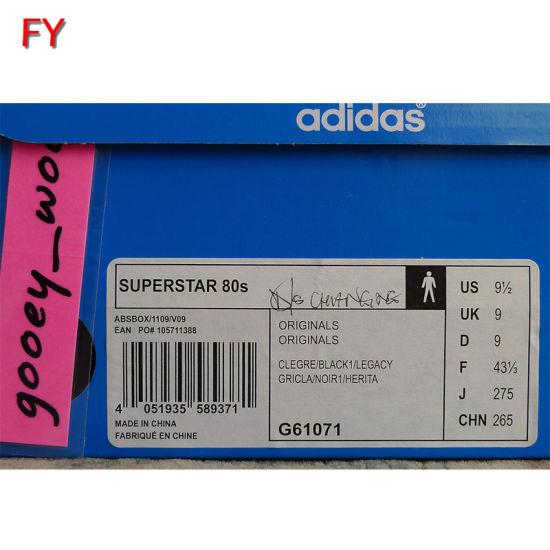 adidas shoe box label