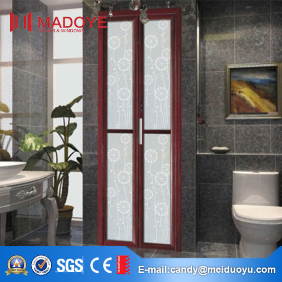 Chinese Style Bathroom Folding Door with Decorative Pattern pictures & photos
