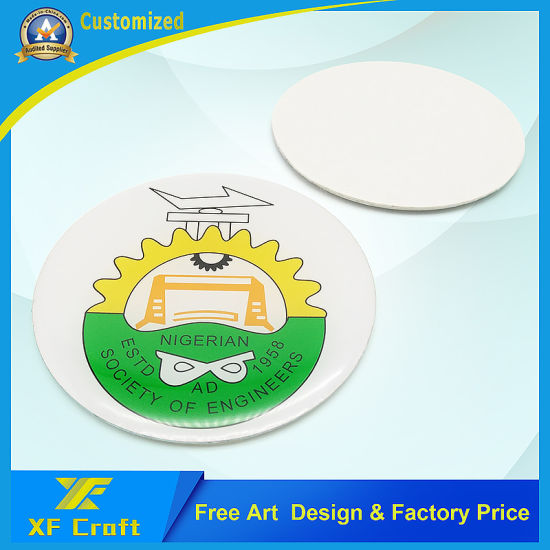 Wholesale Custom Printing Button Badge with 3m Double Faced Adhesive Tape (BG31)
