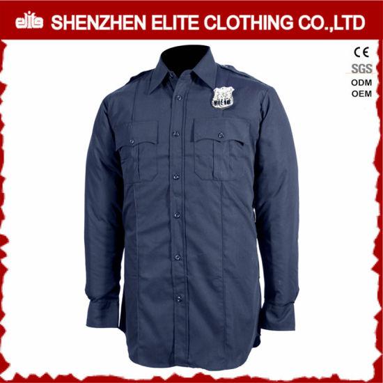 33418071a Long Sleeve Navy Blue Guard Security Uniform Shirts (ELTHVJ-315) pictures &  photos