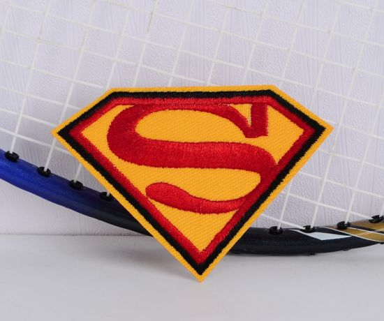 Superman Logo Embroidery Patch for Children's Clothing, Hats and Backpacks, etc.