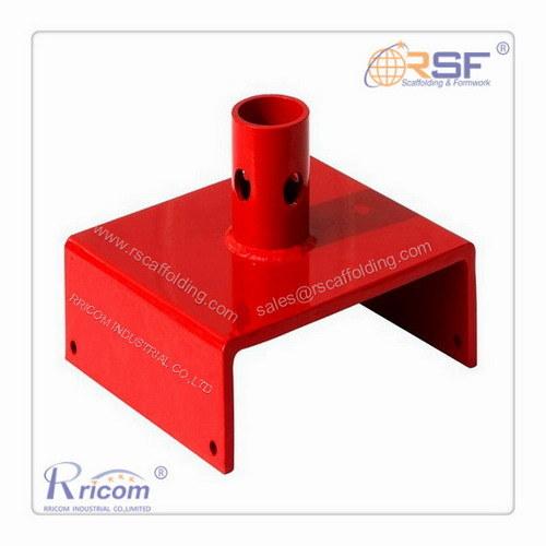 Powder Coated Steel U Head Base Plate for Scaffold Frames
