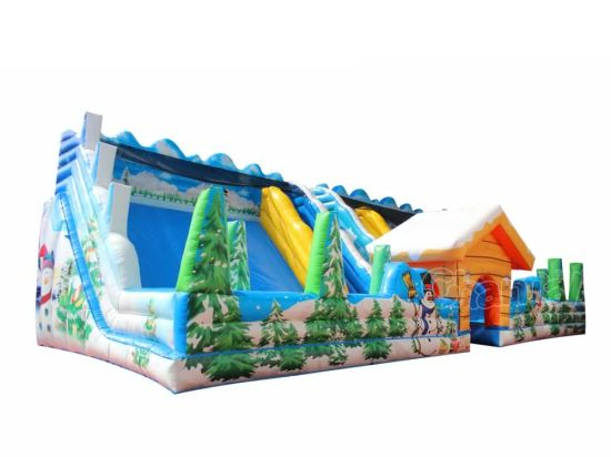 Winter Town Inflatable Slide/Inflatable Double Slide for Kids Chsl667