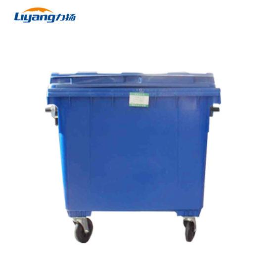 1100 Liter Plastic Wheelie Bins Dustbin Wheels China Factory