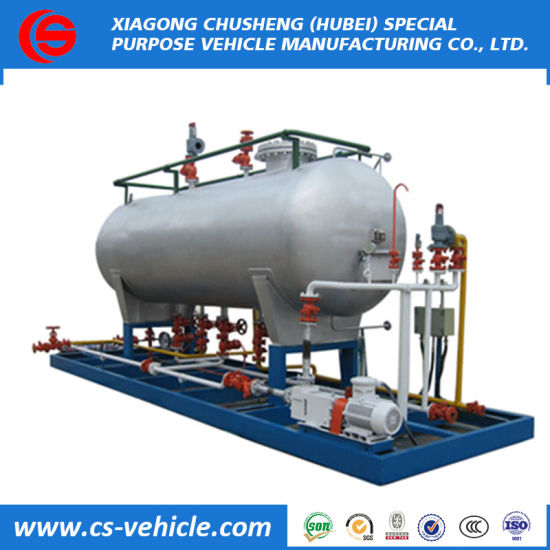 ASME Standard New Design 10tons LPG Gas Filling Skid Station on Sale pictures & photos