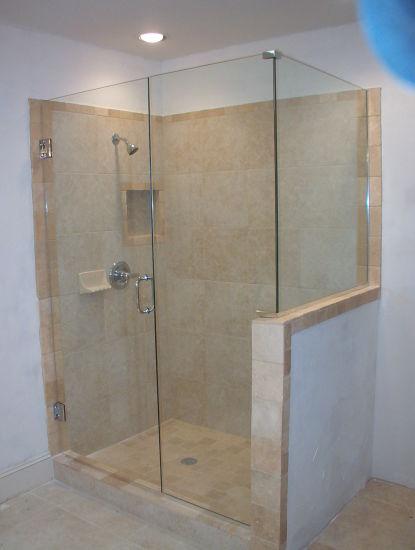 Tempered Glass Shower Door Bathroom Easy Cleaning