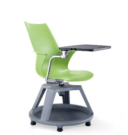 Plastic Shell Rotate Kindergarten Training Chair with Writing Board