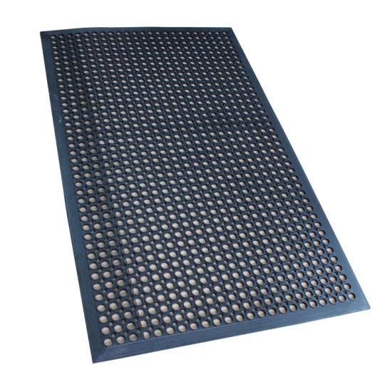 Drainage Rubber Mat Anti-Slip Kitchen Mat Hotel Rubber Mat