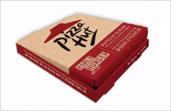 High Quality Colorful Printing Corrugated Paper Cardbaord Pizza Hut Boxes
