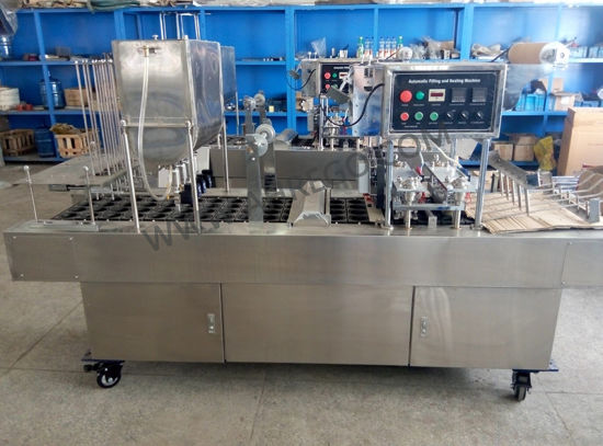 Juice Cup Filling Sealing Machine /Yogurt Cup Filling Machine pictures & photos