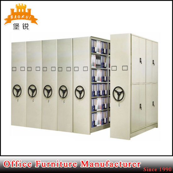 Jas-070 Direct Factory Sale Metal Steel High Quality Mobile Steel Shelving for Archive pictures & photos