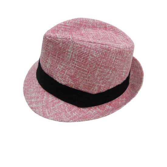be1f3c8fd696b China Custom Plain Fedora Hat Fashion Summer Women Ladies Paper ...
