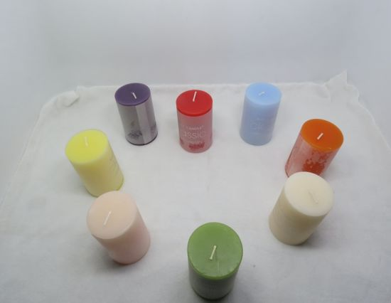 5X5cm Color Scented Cheap Pillar Candle pictures & photos