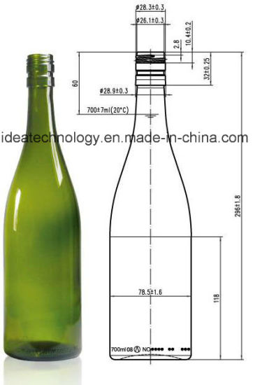 Wholesale 750ml Unique Wine Empty Liquor Glass Bottles for Liquor pictures & photos