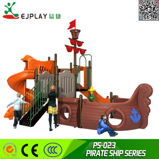 High Quality Outdoor Equipment LLDPE Plastic Pirate Ship Outdoor Playground for Amusement Park