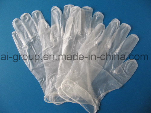 Disposable Clear Powder Free PVC Vinyl Gloves for Medical Use
