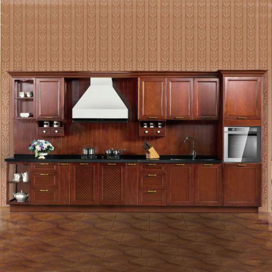 China Lesso Wood Sound Classical Rta Kitchen Cabinet China Solid