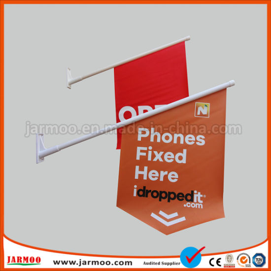 China Custom Plastic Flagpole PVC Outdoor Flags - China