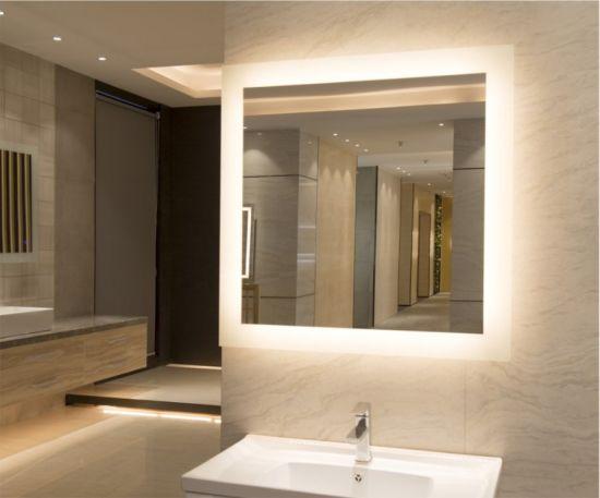 Wall Mounted Backlight LED Illuminated Bath Mirror With Aluminium Frame