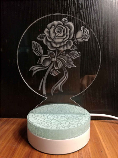 China Manufacturer Craft Acrylic 3D Laser Engraving